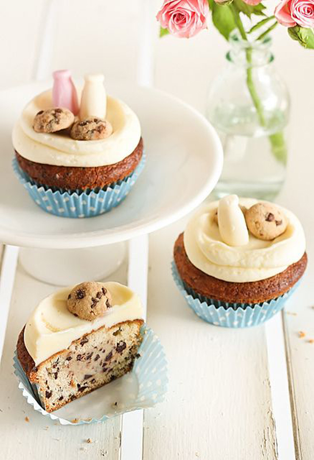 milk and cookies cupcakes