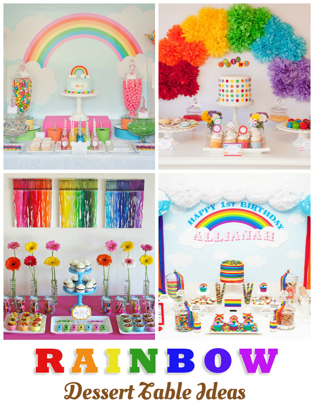 Rainbow Dessert Table Ideas