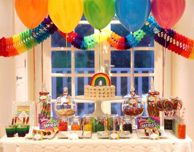 rainbow dessert table 3