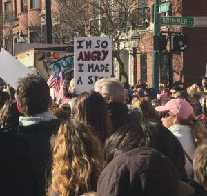 Womens March Boston - sign