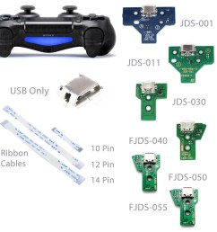 details about playstation ps4 controller usb charging port socket circuit board ribbon cable [ 1200 x 1200 Pixel ]