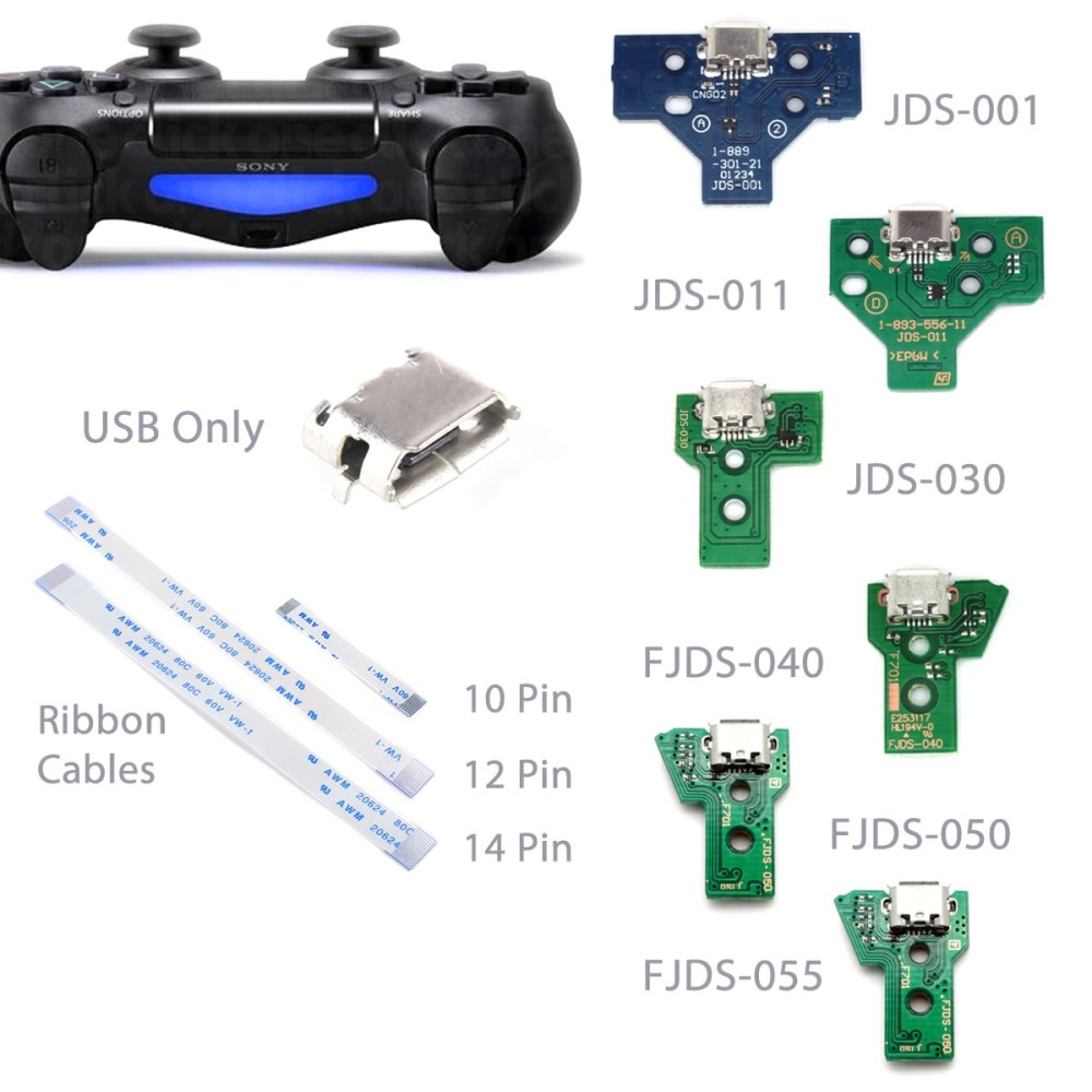 medium resolution of details about playstation ps4 controller usb charging port socket circuit board ribbon cable