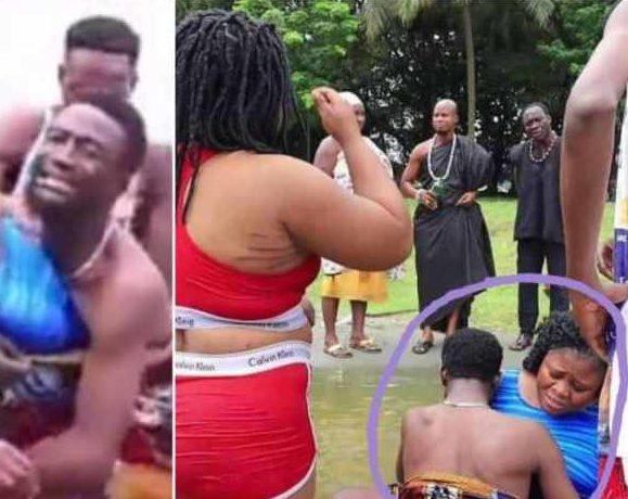 Ghanaian couple gets stuck in Lake Bosomtwe