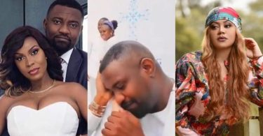 A Leaked Video Of John Dumelo Romancing Nadia Buari Pops Up (Watch full video)