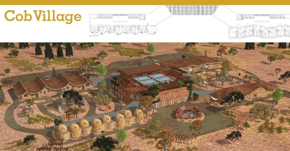 Cob and Rammed Earth Village  One Community Open Source Village 3