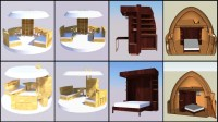 Furniture: DIY Open Source Dome-Home Furniture Plans, Cost ...