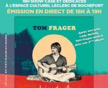Le chanteur Tom Frager en tournée Chut on écoute la télé du 22 au 26 octobre pour la sortie de son 3ème album