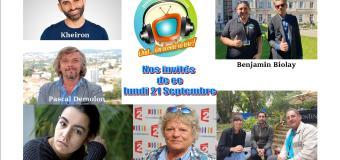 Voici nos émissions en réécoute de ce lundi 21 septembre avec Benjamin Biolay, Nora Amzawi et Kheiron