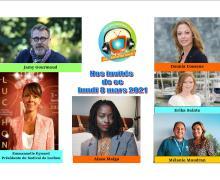 Dounia Coesens, Aïssa Maïga, Mélanie Maudran, Jamy Gourmaud, Erika Sainte et Emmanuelle Eymard ce lundi 8 mars dans Chut on écoute la télé