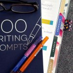 Cover of 300 writing prompts book with glasses