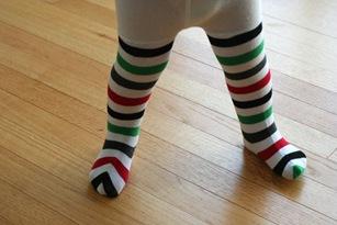 knee socks to tights