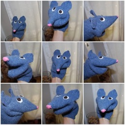 Repurposed Sweater to Mouse Puppet