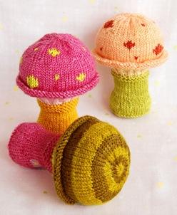 Toadstool Rattle Knitting Pattern