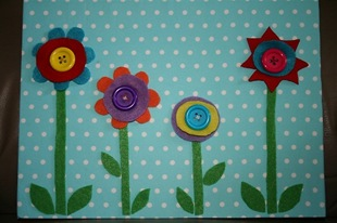 Flower Buttoning Activity