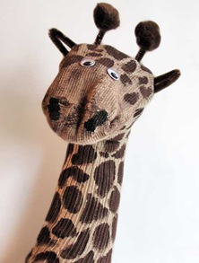 How to Make the Cutest Giraffe Sock Puppet. Ever.