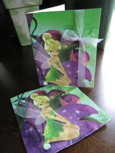 Repurposed Napkins to Greeting Cards