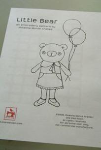 Little Bear Embroidery Pattern