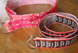 Candy Wrapper Belt Tutorial