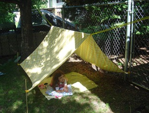 Make a Backyard Tent from an Old Sheet