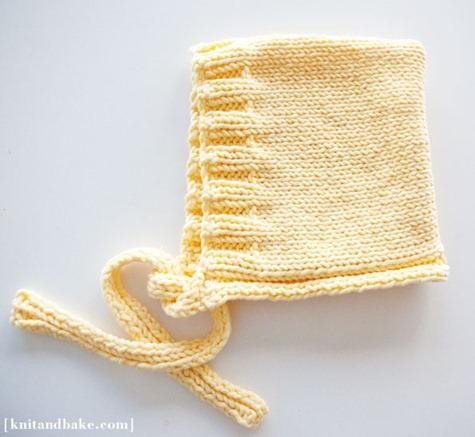 baby bonnet knitting pattern knit and bake