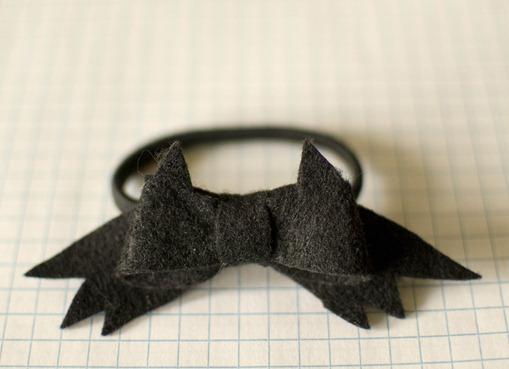 bat bow hair tie