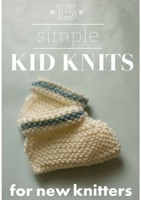 beginner knitting patterns - knit for kids