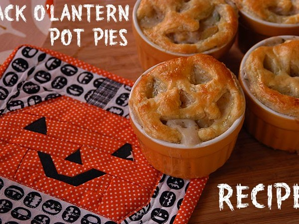 Jack O' Lantern Pot Pies from My Paper Crane
