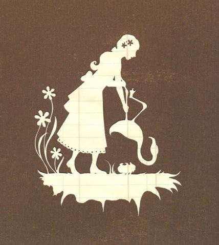 alice in wonderland papercut