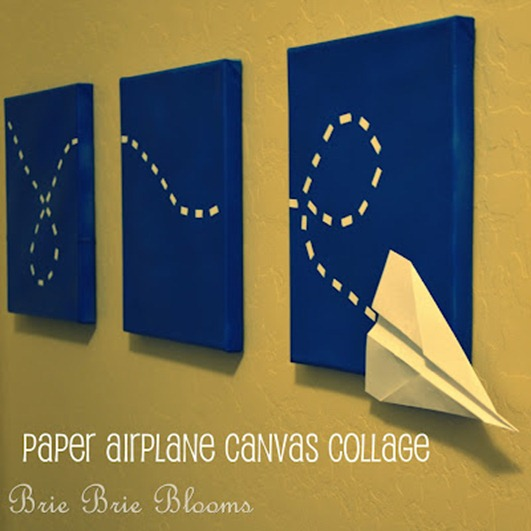 paper airplane on canvas mom endeavors
