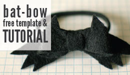 bat-bow template and tutorial