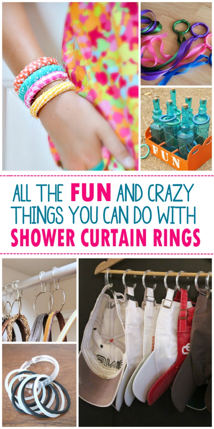 unexpected ways to use shower curtain rings