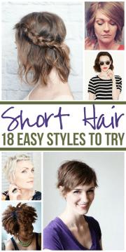 easy styles short hair