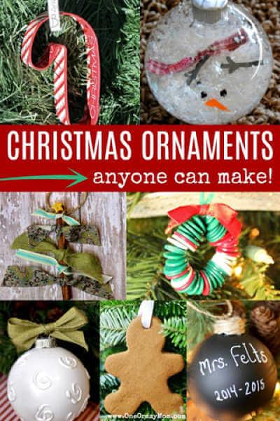 Easy Homemade Christmas Ornaments Over 30 Diy Ornaments