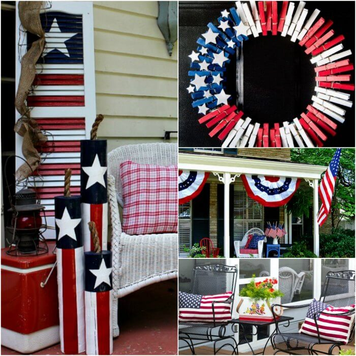 4th of July Front Porch Ideas Patriotic front porch ideas for the 4th