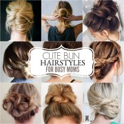 cute bun hairstyles - messy