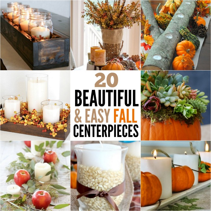 DIY Fall Centerpiece Ideas Easy Fall Centerpiece Ideas