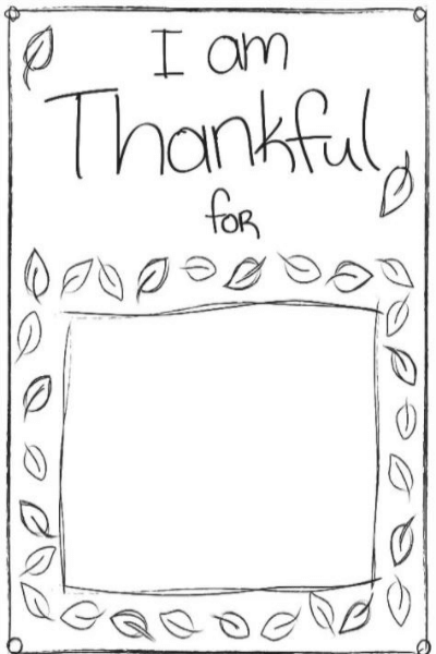 I Am Thankful For Pages Coloring Pages
