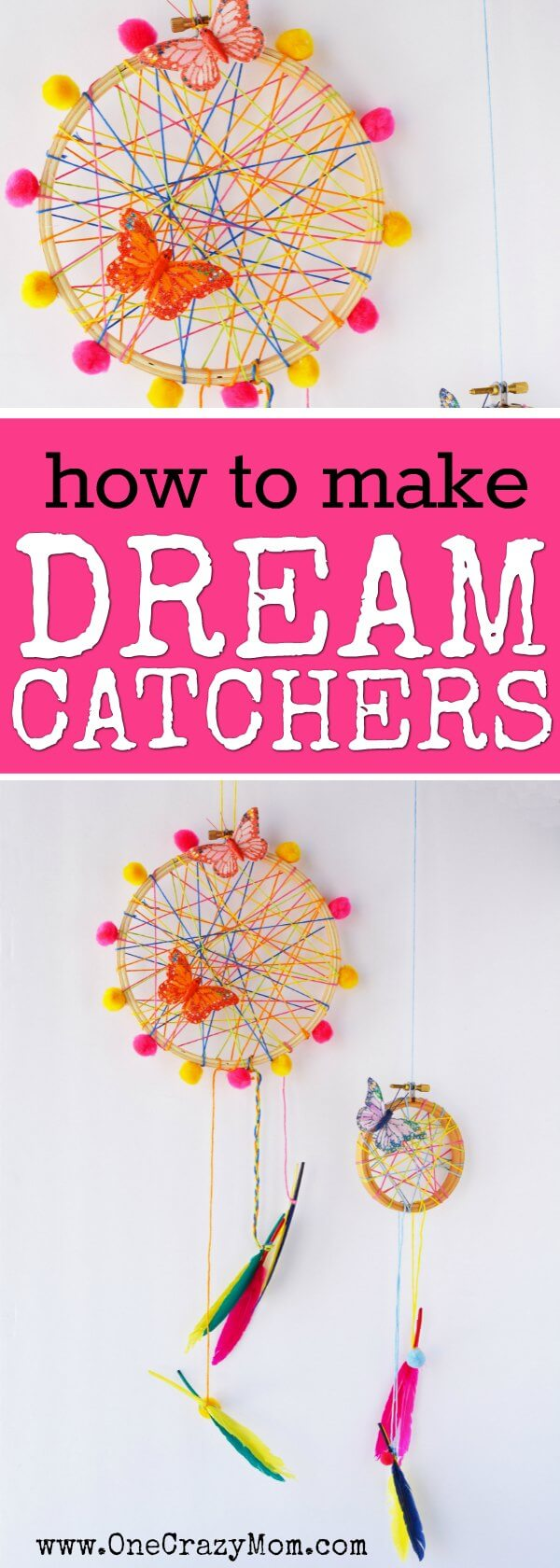 How to Make a DreamCatcher for Kids  Fun and Colorful Craft Activity