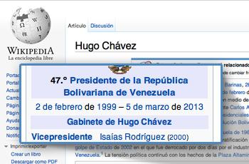 Hugo Chavéz Fallecimiento