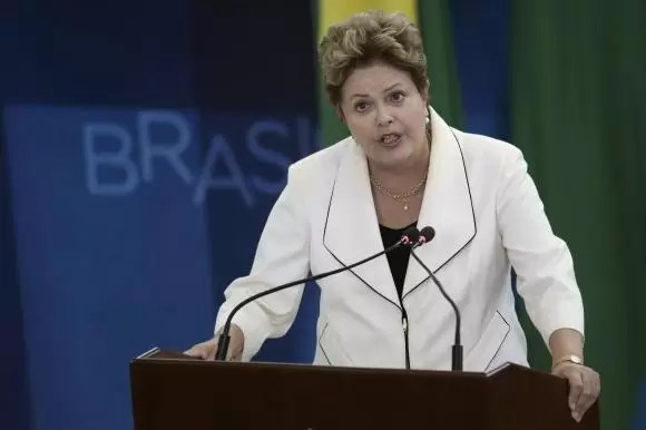 Rousseff speaks during an inauguration ceremony for new ministers at the Planalto Palace in Brasilia