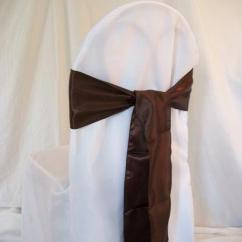 Chair Covers And Sashes Rental Heathfield Posture 1 Cover Rentals Of Chicago Brown Chocolate Sash