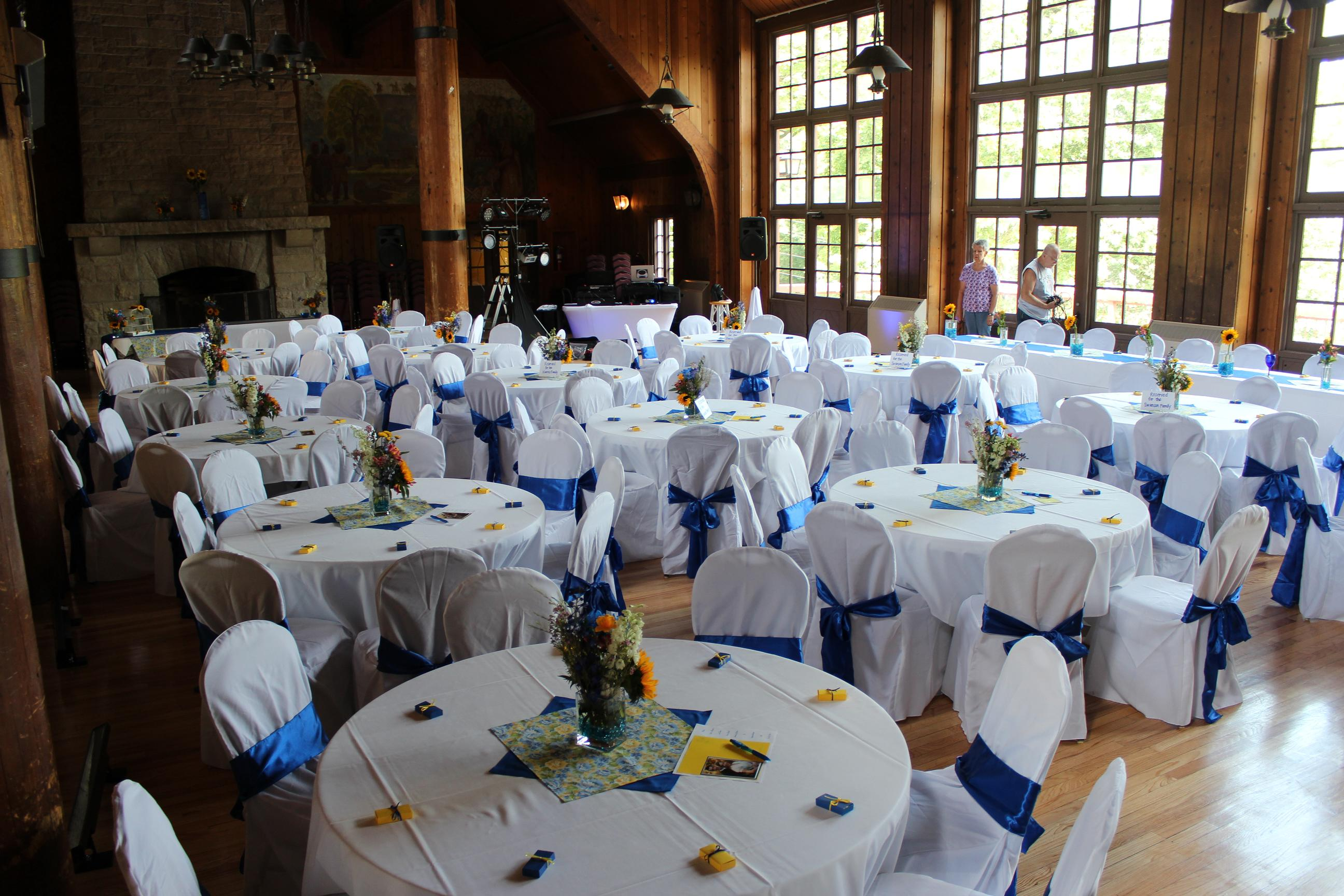 chair cover for rent wedding folding dimensions 1 rentals of indianapolis and sash rental banquet covers with royal blue sashes