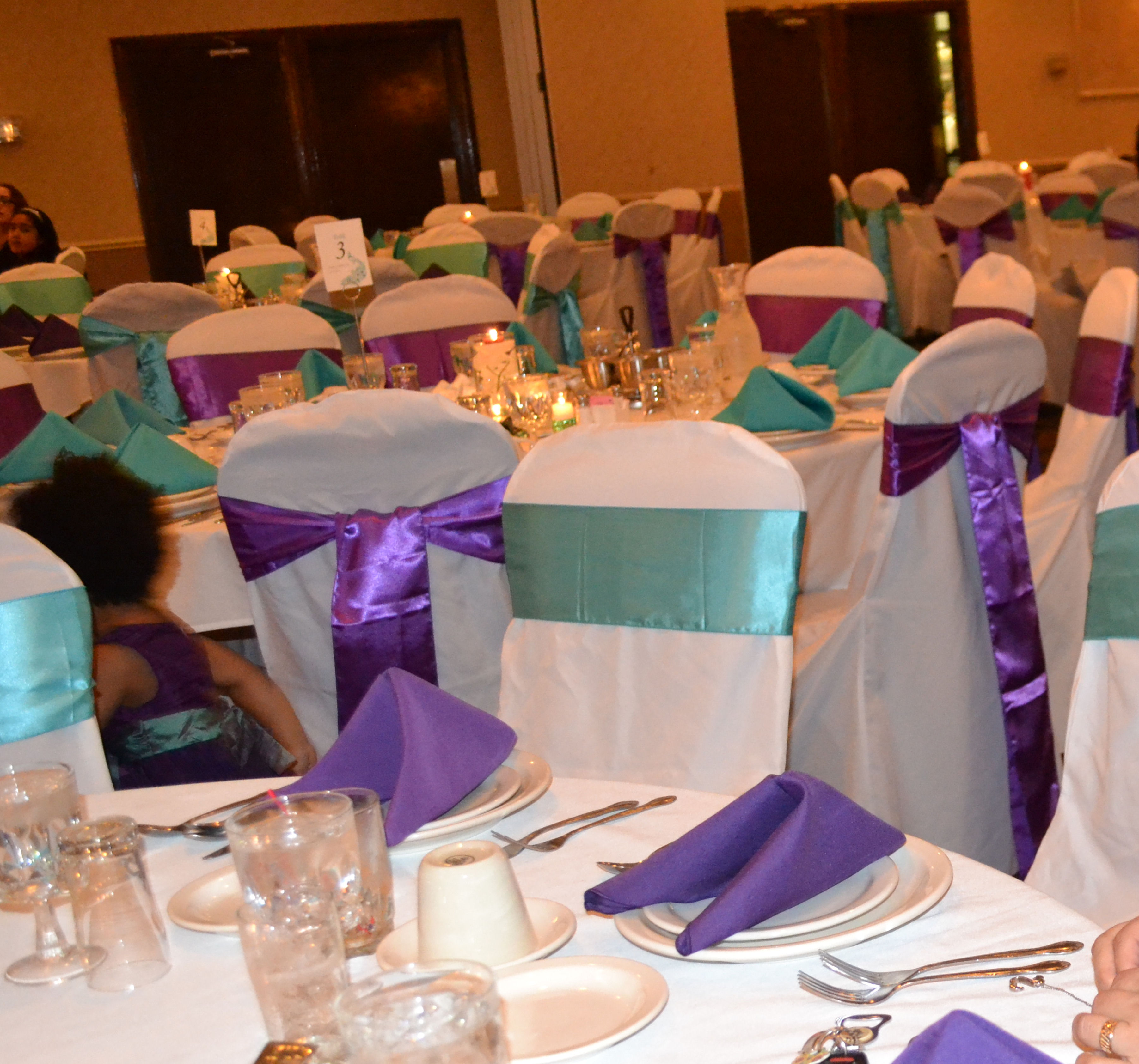 purple chair sashes for weddings comfy and a half 50pcs wedding sash