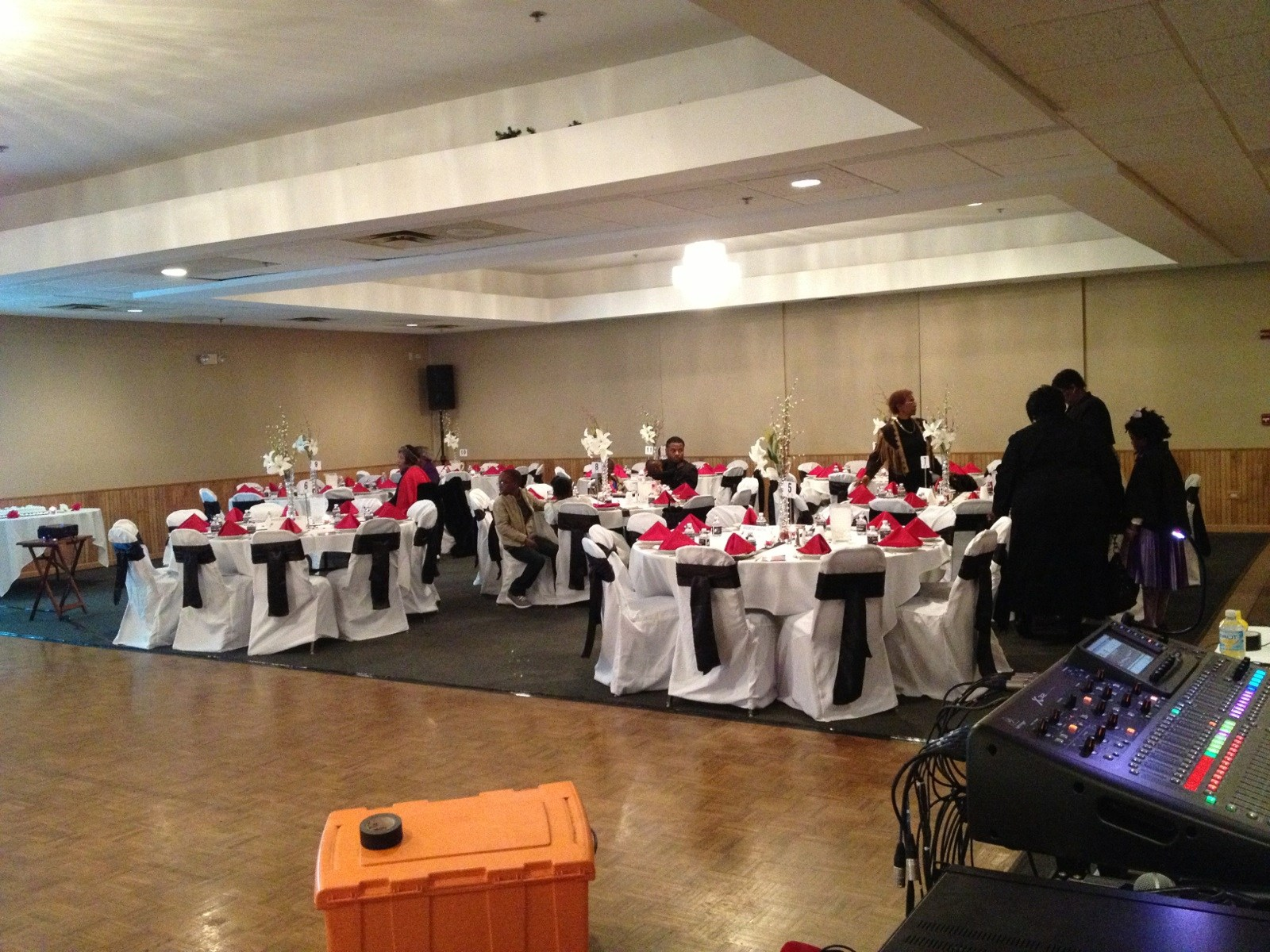 banquet chair covers with sashes club slipcovers white customer photos  1 cover rentals of chicago