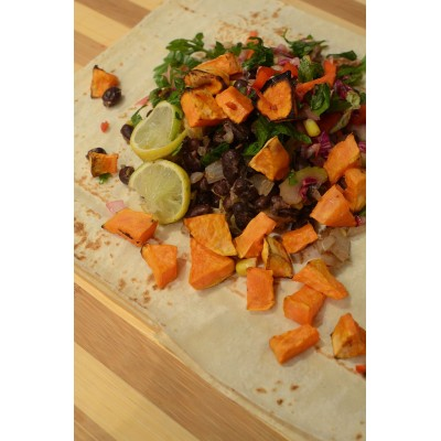 Healthy Recipe: Black Bean and Sweet Potato Burrito