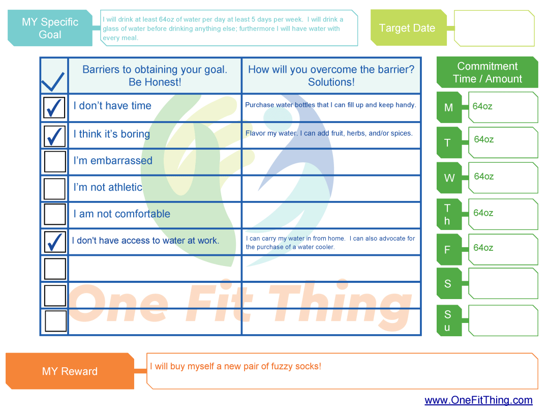 SMART Goal Tool - Removing and Overcoming Barriers Form Example