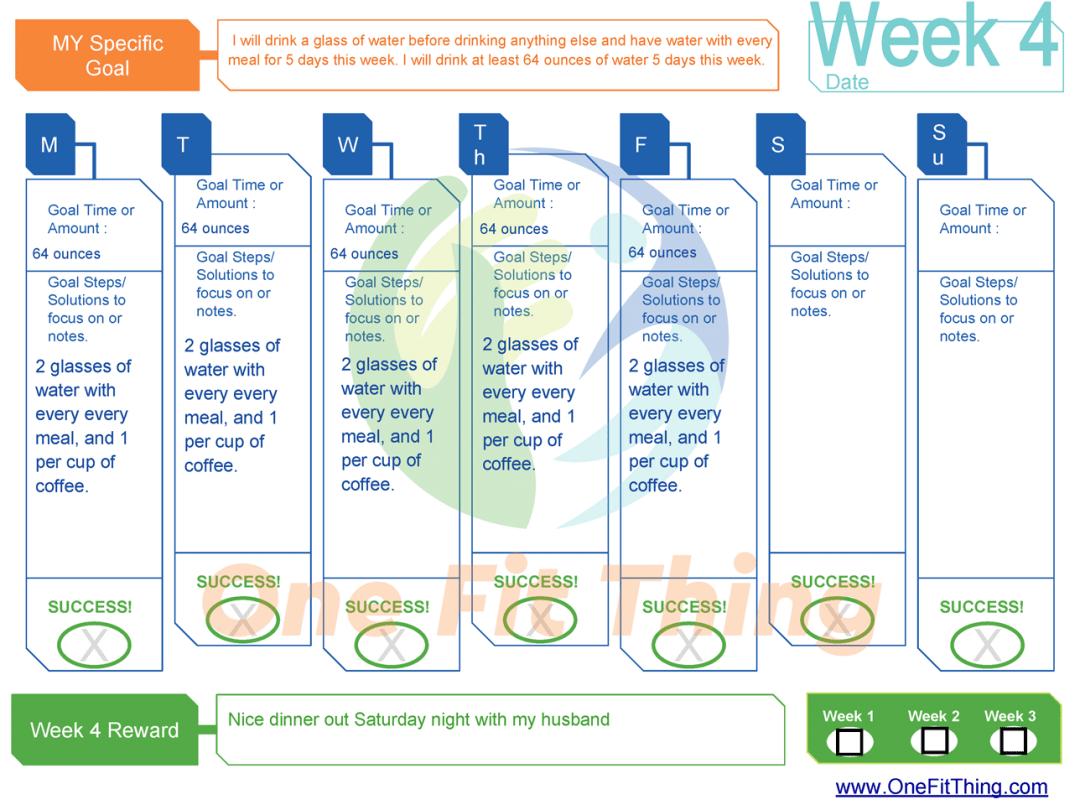 SMART Goal Tool - Week 4 Example