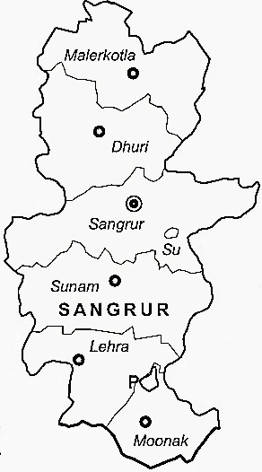 Sangrur District  Sangrur District Map