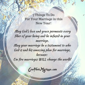 7 Things To Do For Your Marriage in this New Year