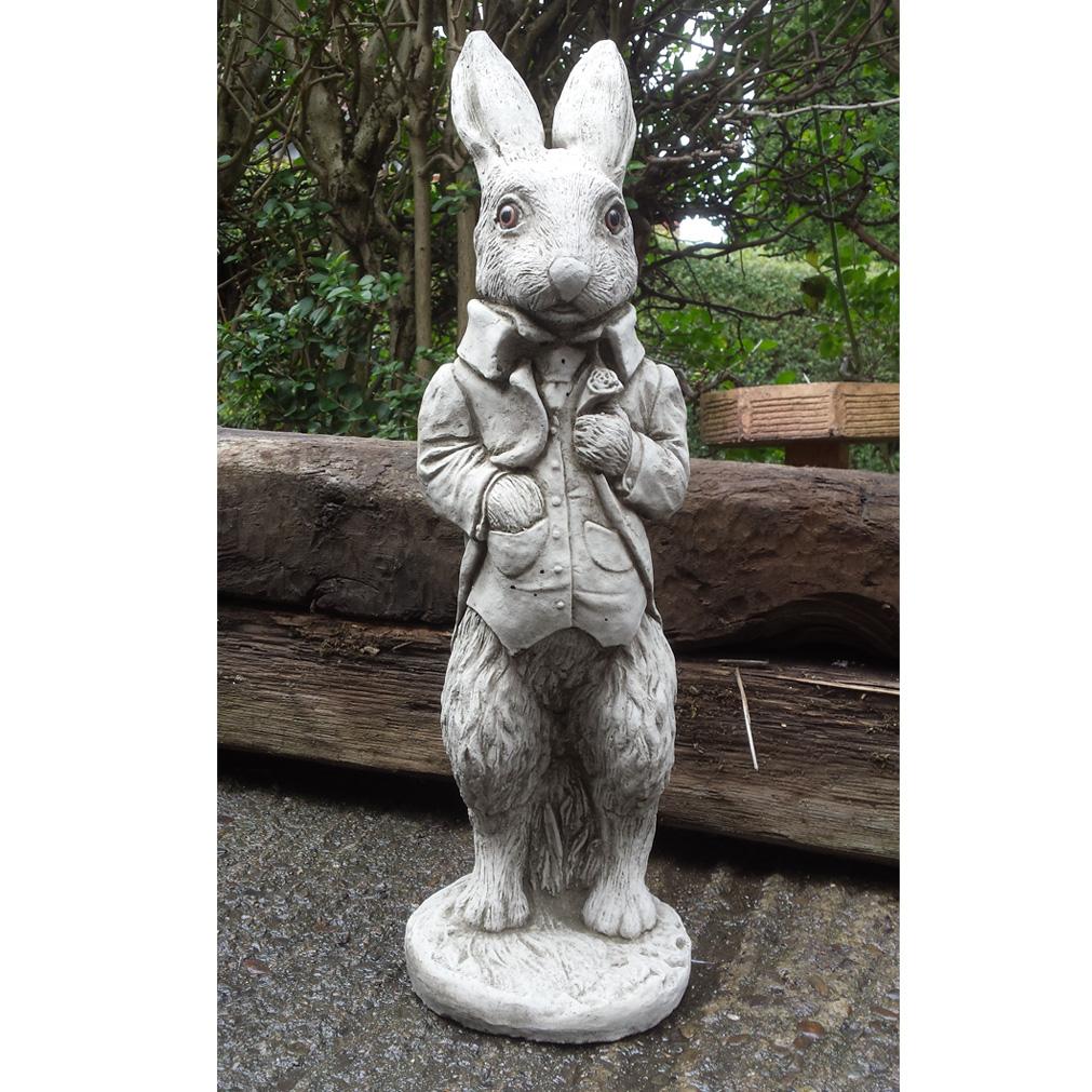 stone rabbit garden ornament